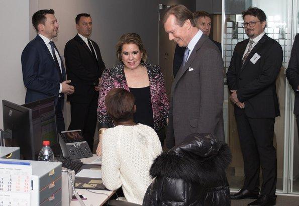 Grand Duke Henri and Grand Duchess Maria Teresa. Maria Teresa wore Ralph Lauren jacket
