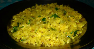 Poha, Flattened Rice Snack Recipe