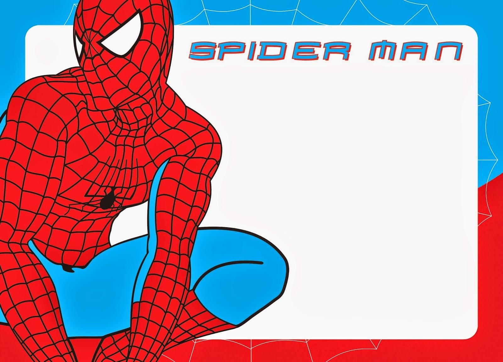 free printable spiderman invitations   Poemdoc.or