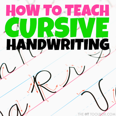 Cursive writing tips