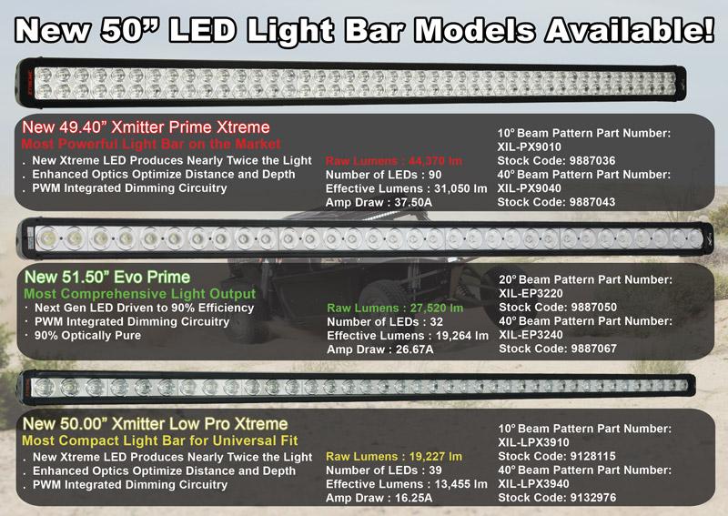 New 50 Led Light Bar Models From Vision X Lighting Utv Guide