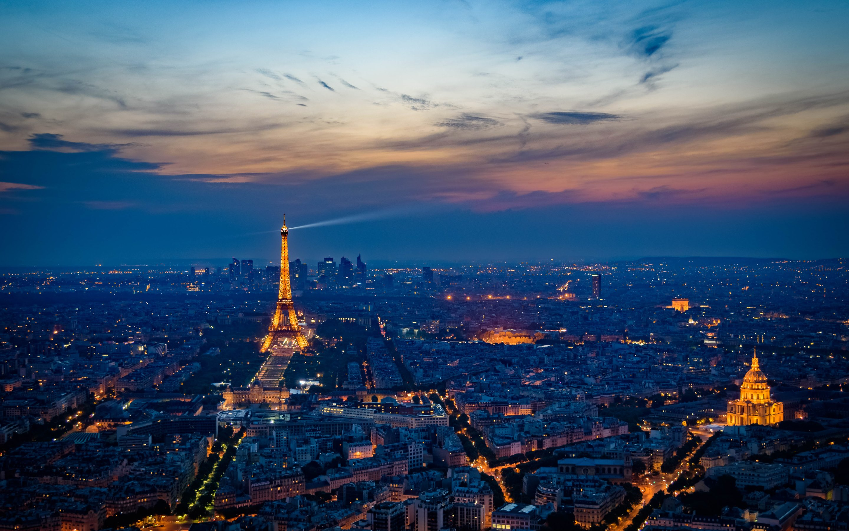 the paris at sunset hd wallpapers 4k