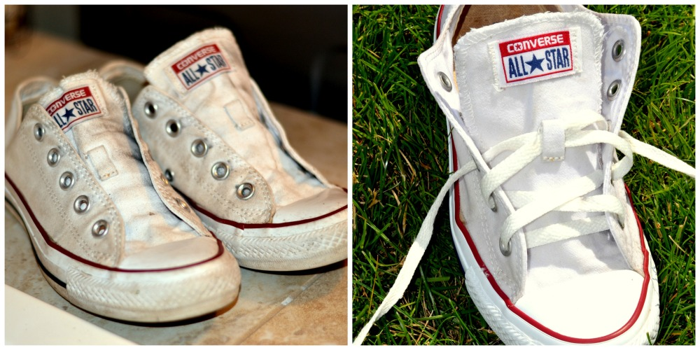 How to clean your white converse or canvas shoes rachel teodoro - How to clean shoes ...