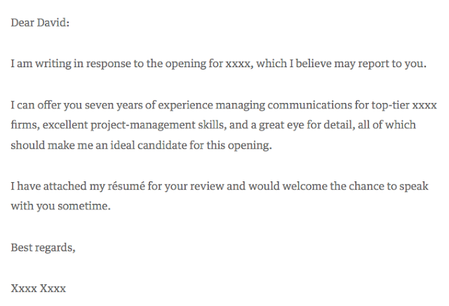 The Best Cover Letter
