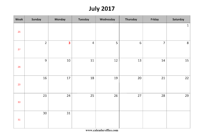 July 2017 Calendar, July 2017 Printable Calendar, July 2017 Calendar Printable, July 2017 Calendar Template,  Free July 2017 Calendar, July 2017 Calendar Holidays, July 2017 Calendar Word, July 2017 Calendar PDF