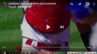 モリーナ プロテクター ボール へばりつき ボール見失う gif MLB