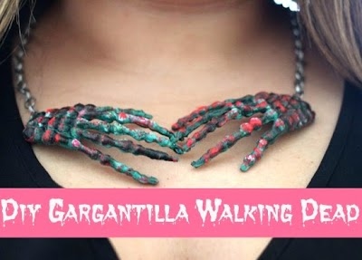 Gargantilla Walking Dead Halloween Diy
