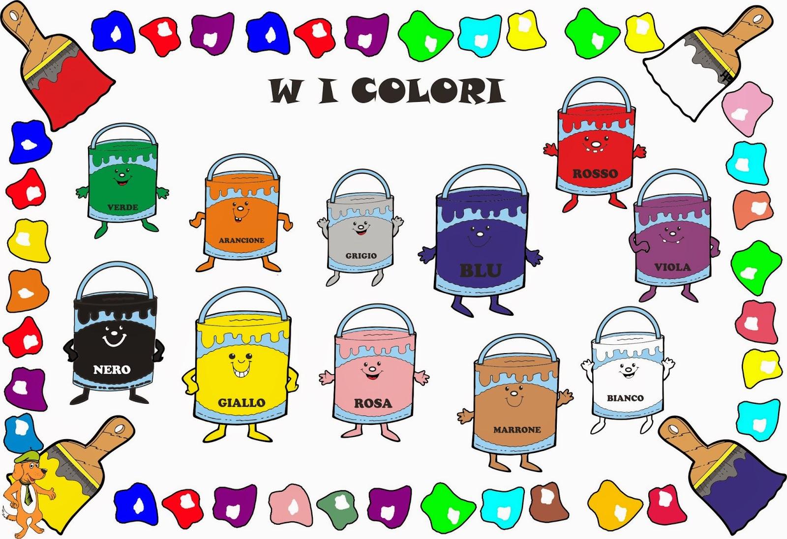 A Scuola Con Poldo Il Cartellone Dei Colori