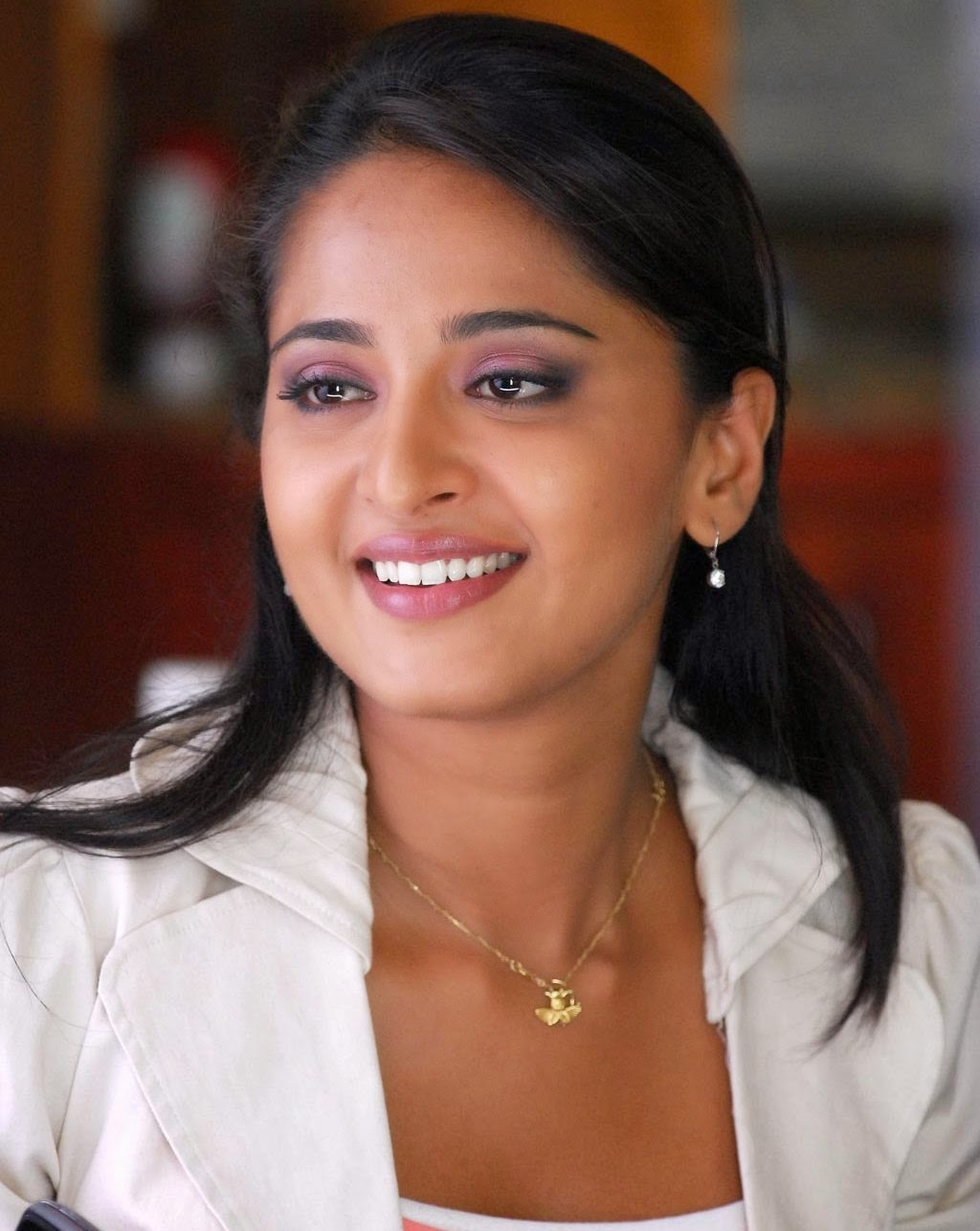 Hollywood Actress Anushka Shetty Stills In White Dress