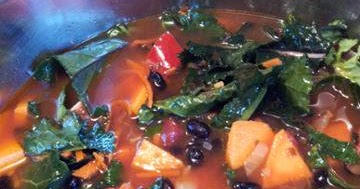Black Bean-Kale Soup - Vegan, Gluten-Free