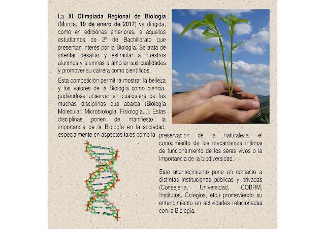 """""""XI Olimpiada Regional de Biología"""""""