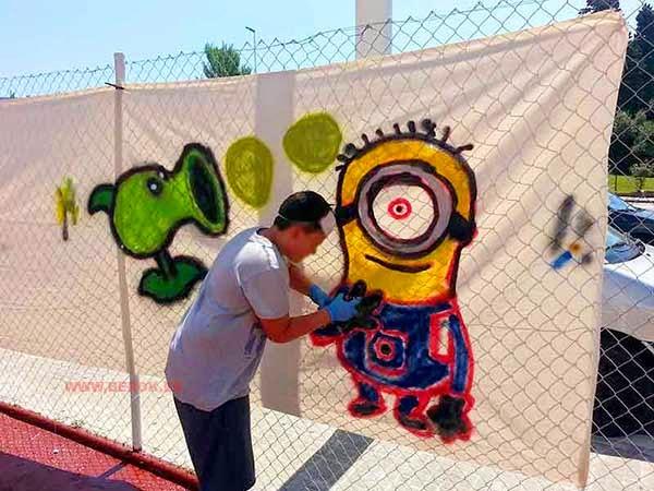 Graffiti de Minion mi villano favorito
