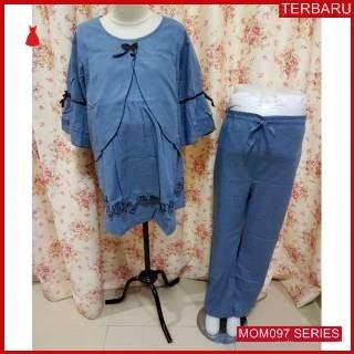 MOM097B16 Baju Setelan Menyusui Rose Layer Bajuhamil Ibu Hamil