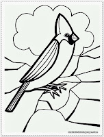 flying bird coloring pages for kids
