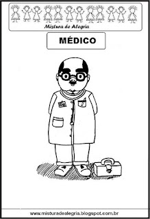 Desenho de médico para colorir