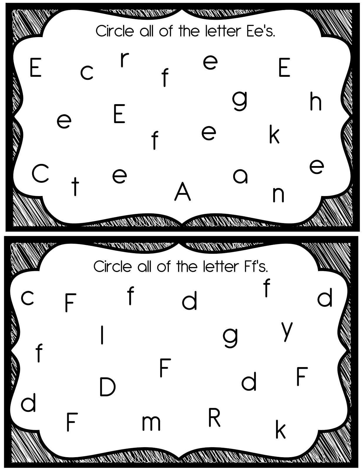 The Crazy PreK Classroom October 2012 – Vowels and Consonants Worksheets