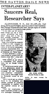 Inter-Planetary? Saucers Real, Researchers Says - Dayton Daily News 7-29-1958