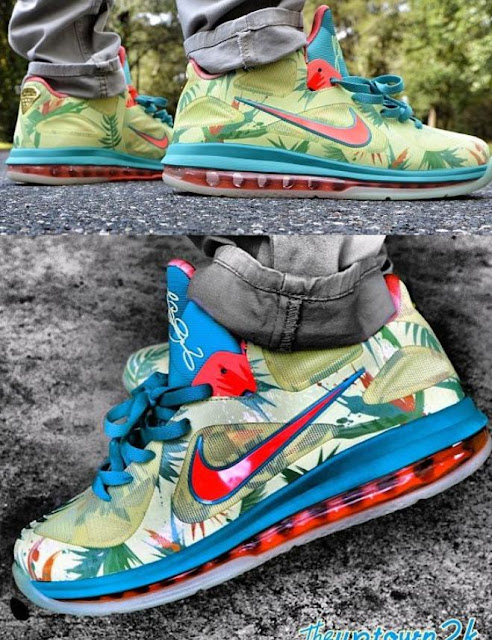 outlet store 1ac29 08f94 Here is new images via uptown2k of the LeBron 9 Low PE LeBronold Palmer  sneaker which we have now found out actually