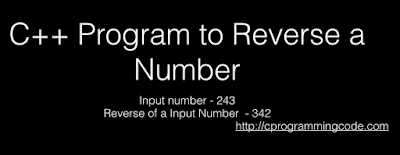 C++ Program to Reverse a Number