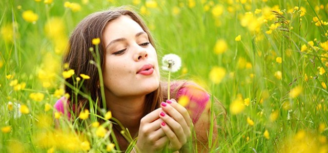 Pic Of Flowers With Girl