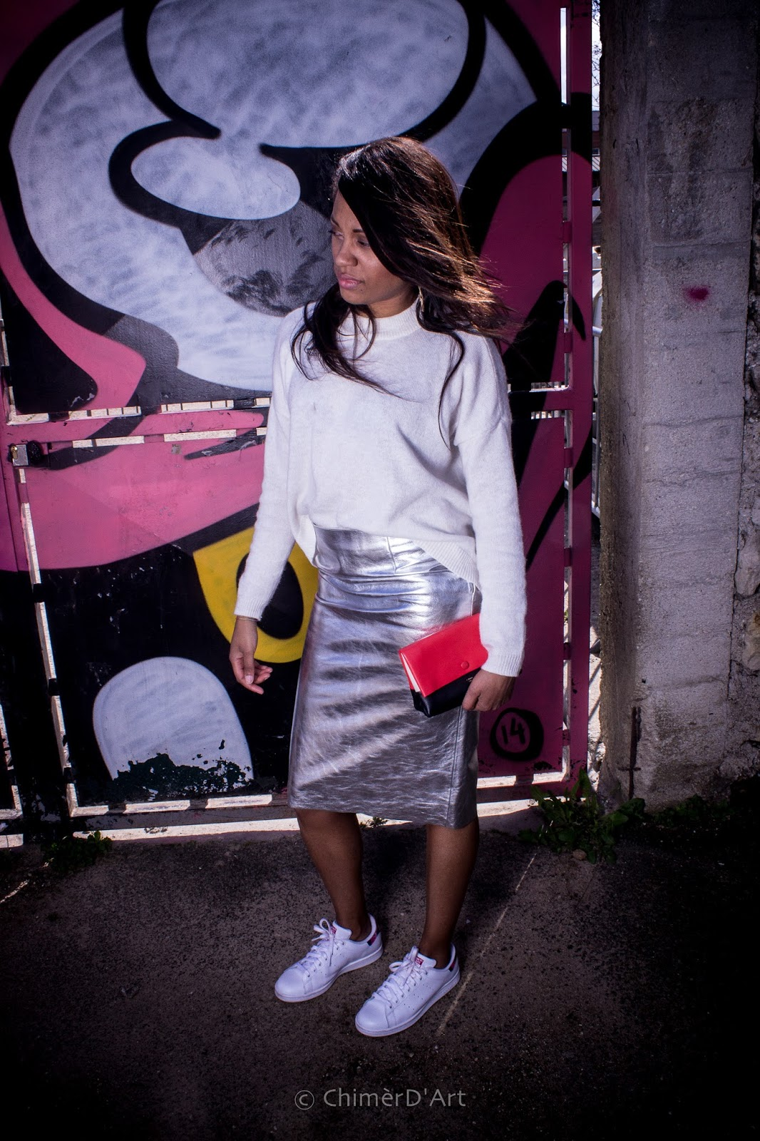 Maje: The Silver Skirt / La Jupe Argent