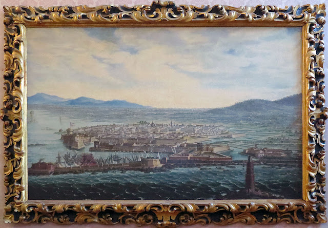 View of Livorno from the side of the Lighthouse by Lorenzo Fratellini, Council chamber, Town Hall, Livorno