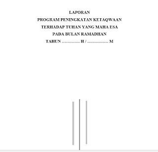 Contoh Agenda Bulan Ramadhan SD Terbaru
