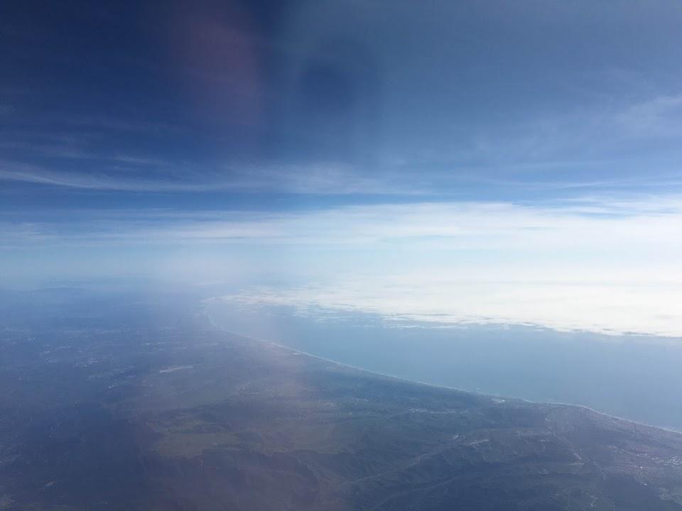 ロサンゼルス 上空