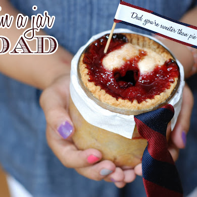 DIY Father's Day Pie in a Jar