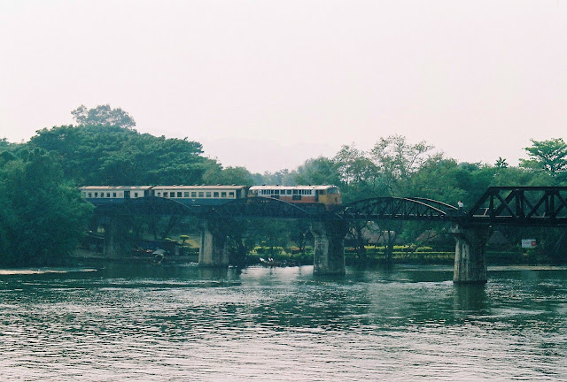 Bridge over the River Kwai in Kanchanaburi - Thailand
