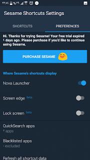 sesame shortcuts pro apk