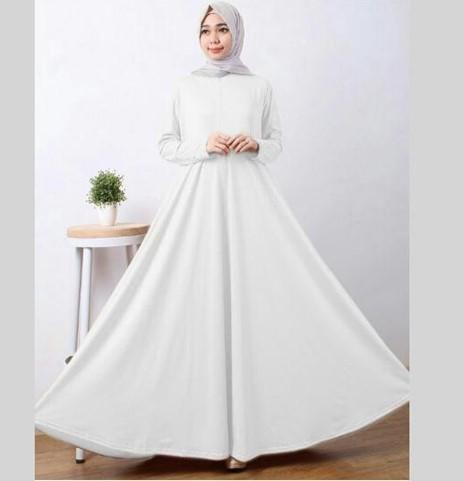 Model Gamis Putih Spesial Manasik Haji