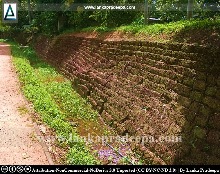 The eastern laterite wall, Udugampola pond