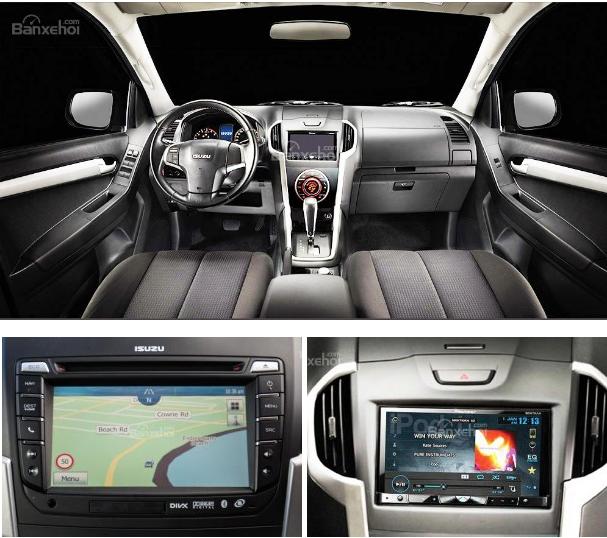 xe Isuzu D-MAX 3.0 có tính năng giải trí và nhiều tiện nghi phong phú hơn so với Toyota Hilux 2016