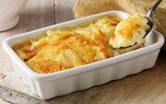 Patatas al horno con nata