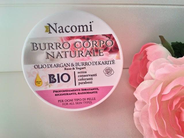 nacomi burro corpo karite argan al profumo di rosa e yogurt