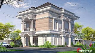 Jasa Arsitek Desain Gambar Rumah di Bali - Fasade Klasik Classic Mediterania Mediteran Modern Home House Mewah Luxury Profil Pilar Eropa