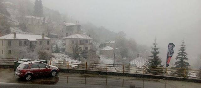 Χιονόπτωση στα ορεινά της Κοζάνης, της Φλώρινας και της Καστοριάς (φωτό, βίντεο)