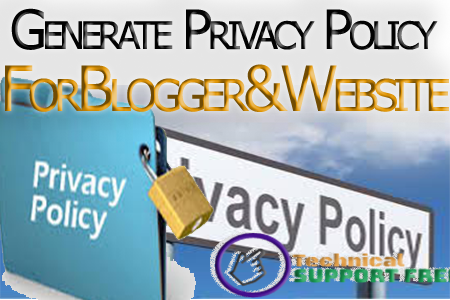 How to add Privacy Policy in blogger with complete Guide and words.