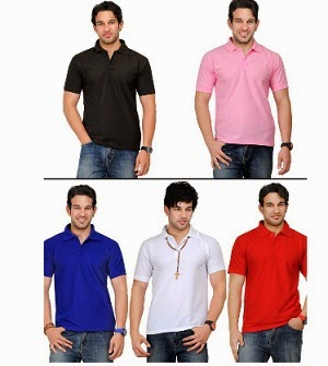TSX Men's Polo T-shirts – Set of 5 just for Rs.959 Only with Free Shipping