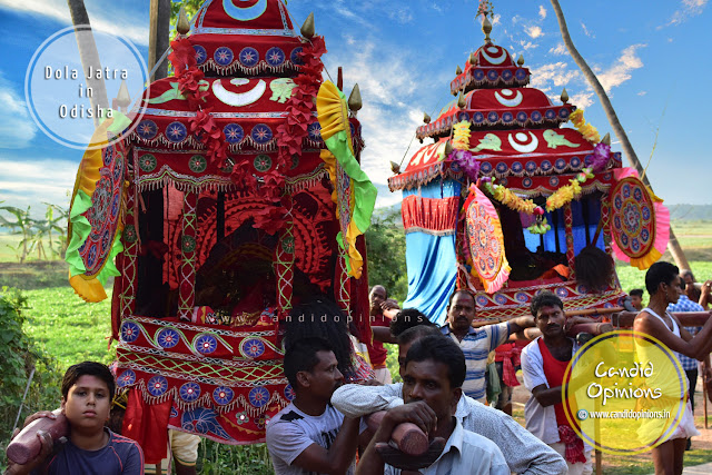 """Bije Pratima"" or idol of Sri Krishna taken for rounds in palanquins (""Vimaana"")"