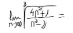 19. Límite de una sucesión (raíz de cociente polinomios)