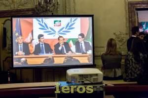 videoproiettore per evento politico