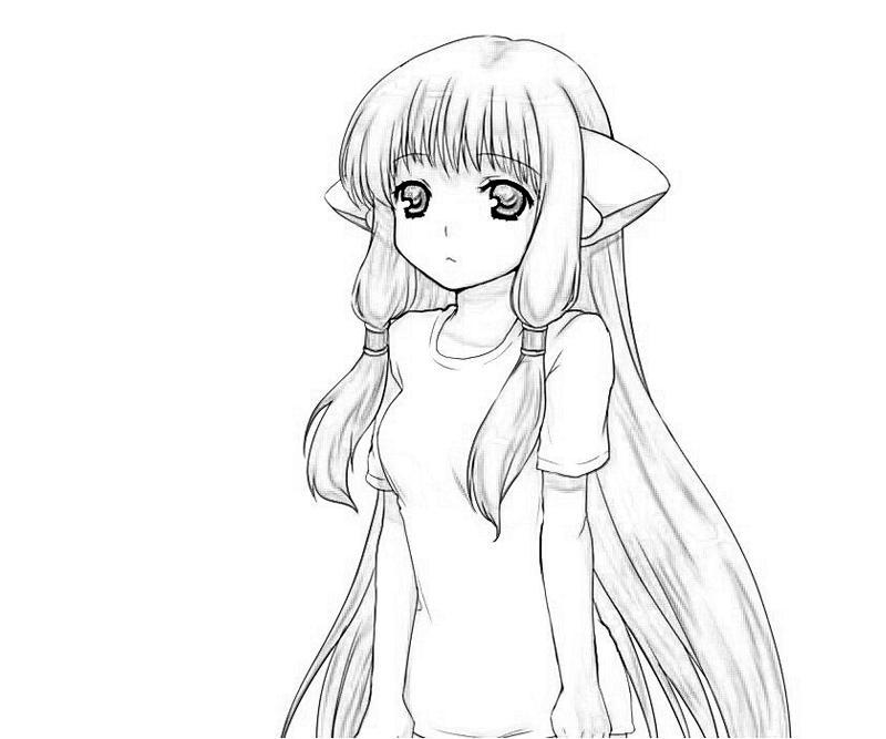 chi coloring pages | Chobits Atashi Chi Character | How Coloring