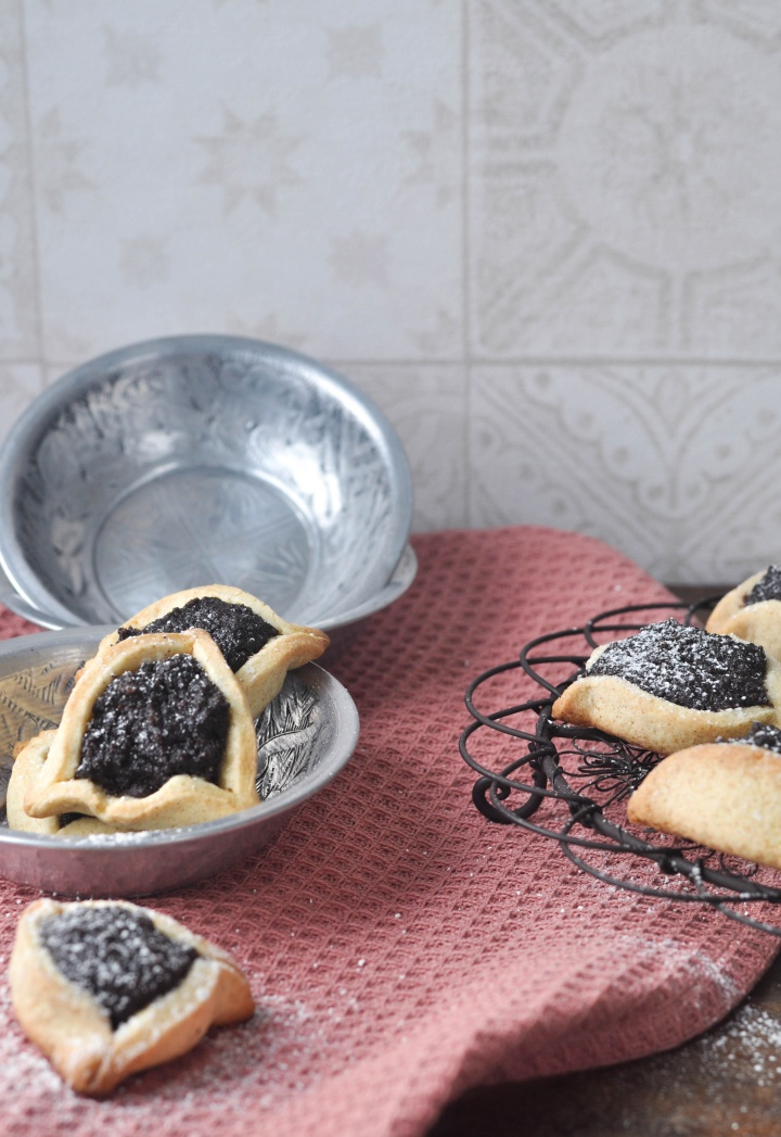 Hamentashn with traditional Poppy Seed and Honey Filling, gluten free