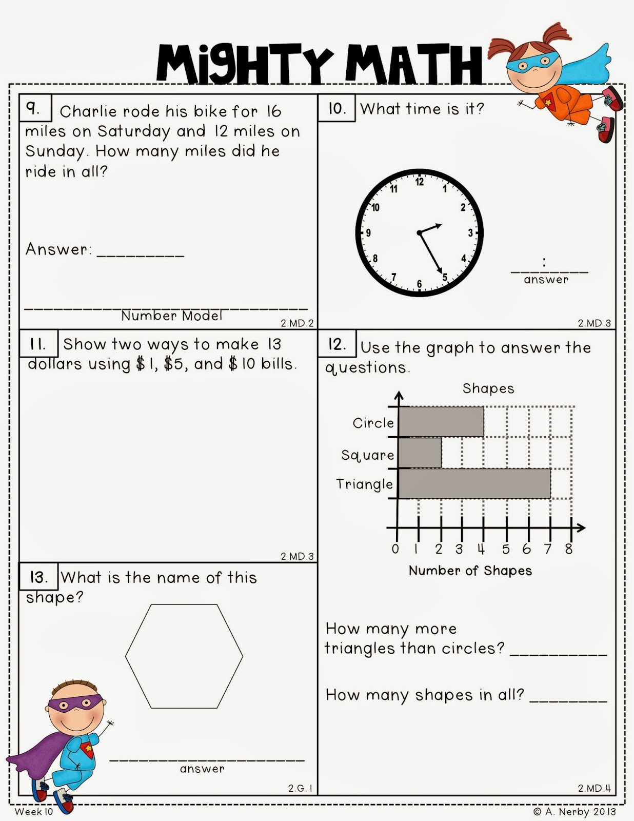 Math Assessment For Second Graders