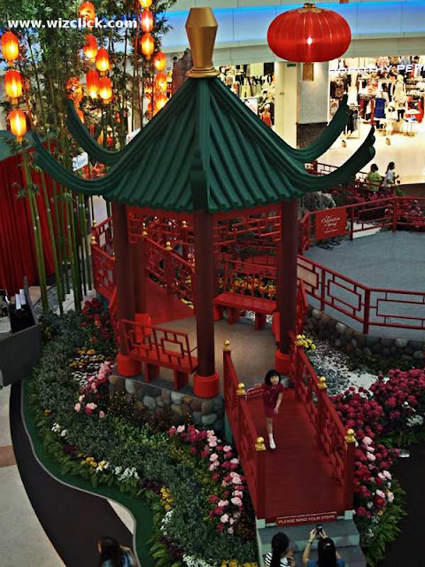 Garden Patio part of The Curve Shopping Mall 2013 Chinese New Year Decoration.