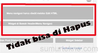 cara menghapus widget blog yang sulit dihapus
