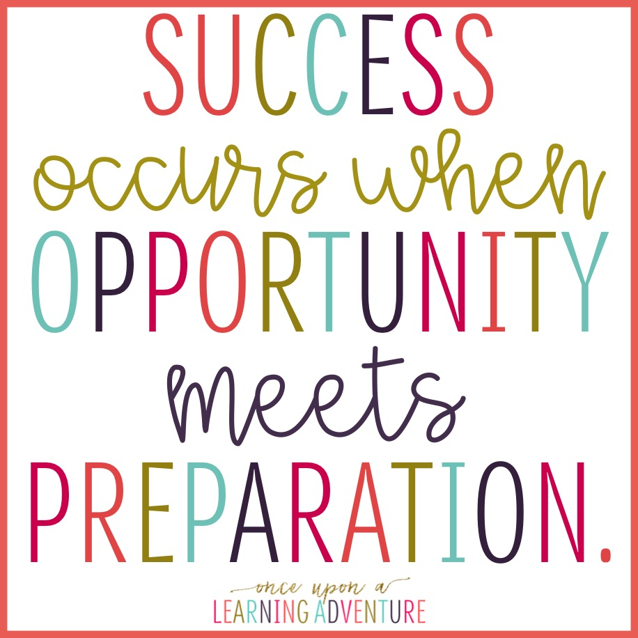 Quote Success Is When Preparation Meets Opportunity: Once Upon A Learning Adventure