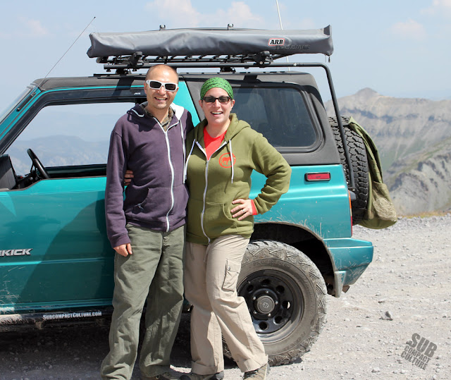 Andy and Mercedes atop Imogene Pass